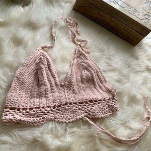 Dust Pink Crochet top
